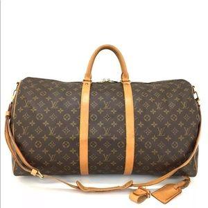 Louis Vuitton Monogram Keepall Bandouliere 55 Bag